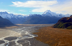 Mountain Cook Landscape New Zealand Royalty Free Stock Photography