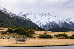Mountain Cook, New Zealand. Mountain Cook in New Zealand South Island, South alpine Stock Image