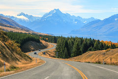 Mountain Cook NewZealand Stock Photo
