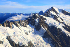 Mountain Cook Peak New Zealand Stock Photo