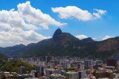 Mountain Corcovado Christ the Redeemer, Rio de Janeiro Royalty Free Stock Photo