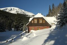 Mountain cottage Royalty Free Stock Photography