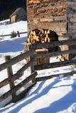 Mountain cottage Stock Photos