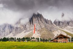 Mountain cottage in Alto Adige / South Tyrol, Italy.  royalty free stock photography