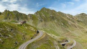 Mountain Cottage in Fagaras Mountains, Romania timelapse stock video footage