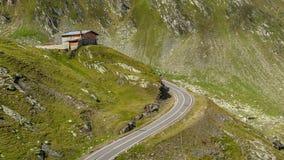 Mountain Cottage in Fagaras Mountains, Romania timelapse stock video