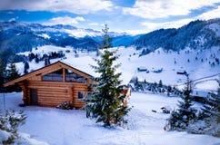 Mountain cottage. House with fresh snow. Photo taken on: December 19th, 2012 royalty free stock photos