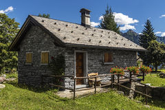 Mountain cottage Stock Photography