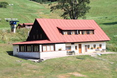 Mountain cottage Royalty Free Stock Photos