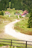 Mountain cottages Royalty Free Stock Images