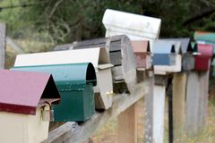 Mountain Country Mailboxes 2 Royalty Free Stock Photo