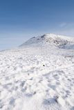 Mountain covered in snow Stock Images