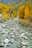 Mountain creak in autumn, Gran Paradiso National Park, Italy Stock Photo