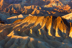 Mountain cream like patterns from Zabriskie Point Royalty Free Stock Image
