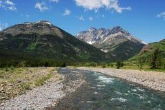 Mountain and creek Royalty Free Stock Photos