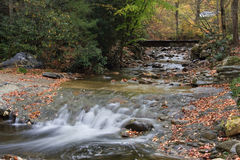 Mountain Creek with Bridge in Background Royalty Free Stock Image