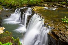 Mountain creek of Clare Glens. Beautiful cascades of Clare Glens in Ireland Royalty Free Stock Photos