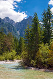 Mountain creek, Dolomites Stock Photography
