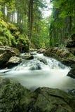Mountain creek doubrava slow shutter speed. Czech mountain creek Doubrava in Czech Republic with slow shutter speed Stock Image