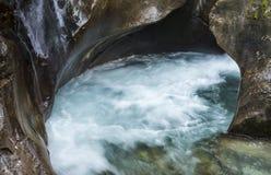 Mountain Creek in Mountains Hohe Tauern. Fast flowing mountain creek in National Park Hohe Tauern, Wildgerlostal, Austria Royalty Free Stock Photos