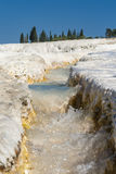 Mountain creek in Pamukkale Royalty Free Stock Image