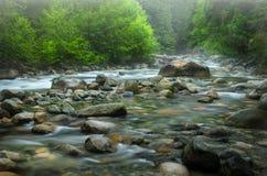 Mountain Creek on a Rainy Day Stock Photo