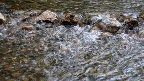 Mountain creek with rocks stock footage