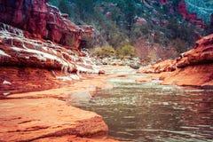 Mountain Creek in Sedona, AZ stock image