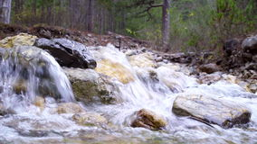 Mountain creek and stones stock footage