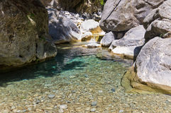 Mountain creek thru Samaria gorge Stock Image