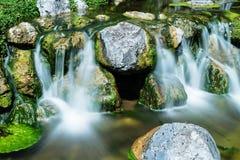 Mountain creek with waterfall Royalty Free Stock Photos