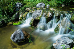 Mountain creek with waterfall Royalty Free Stock Photo