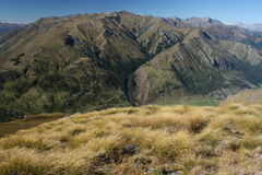 Mountain crest in Mount Aspiring National Park. New Zealand royalty free stock images