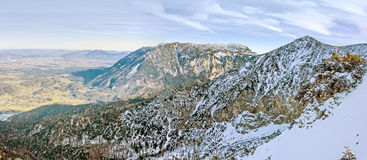 Mountain crest panorama Royalty Free Stock Photography