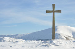 Mountain cross Royalty Free Stock Images