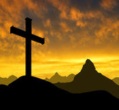 Mountain cross Stock Photos
