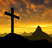 Mountain cross Stock Photos