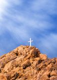 Mountain Cross and Light Royalty Free Stock Photos