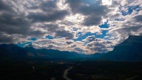 Mountain cross roads Stock Image