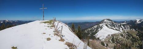 Mountain cross on setzberg, upper bavaria Royalty Free Stock Photography