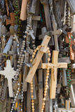 The mountain of crosses Stock Image