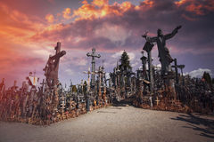 Mountain of crosses Royalty Free Stock Image