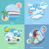 Mountain, cruise, air tourism Stock Images