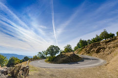 Mountain curved road Royalty Free Stock Images