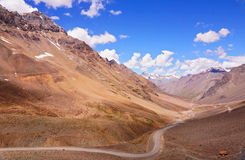 Mountain Curved Road Royalty Free Stock Photos