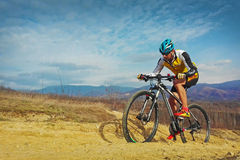 Mountain cycling Royalty Free Stock Photography
