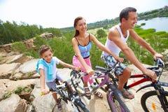 Mountain cyclists Stock Photos
