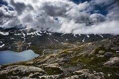 Mountain Dalsnibba landscape in Geiranger, Norway Stock Photos