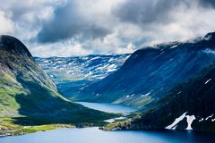Mountain Dalsnibba landscape in Geiranger, Norway Royalty Free Stock Photos