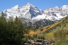 Mountain dam royalty free stock photography